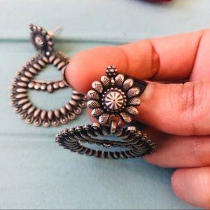.925 Sterling Silver Boho Earrings
